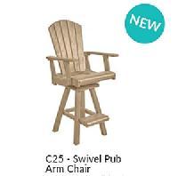 C.R.P. Barstühle mit Armlehne C25+26