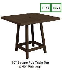 C.R.P. Tischplatte und -gestell Pub-Table TT13+TB23