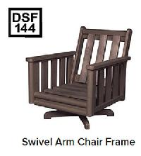 C.R.P. Dreh-Lounge Sessel mit Armlehnen DSF144