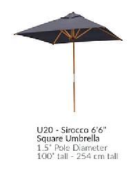 C.R.P BAMBRELLA®  Viereckiger Sonnenschirm - Sirocco