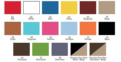 Farbtabelle für Fußstütze F01 und F04