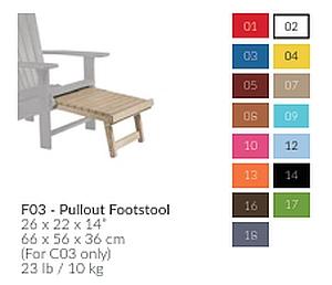 Farbtabelle für Fußstütze F03