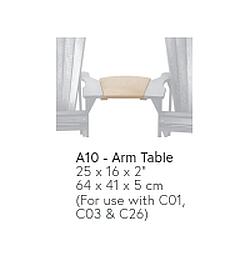 A10 - Armlehnen-Tisch