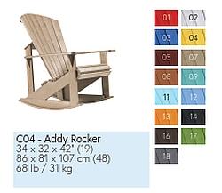 C04 Schaukelstuhl ADDY ROCKER in 15 Farben zur Wahl