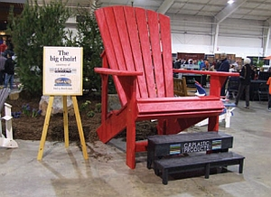 Adirondack Promotion Stuhl in Übergröße, optional mit Fußtritt
