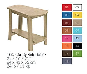 T04 - Addy Side Table - TxBxH 64x43x53 cm