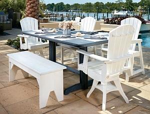 T11 rechteckiger Essisch (Aufstellungsbeispiel mit Addy-Dining Arm-Chair C16 + Basic Bench B02)