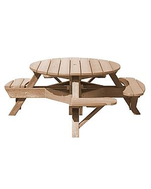 T50WC Picknicktisch, Rollstuhl Ausführung (beige 07)