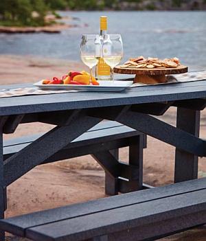 Abb. zeigt T52 Picknicktisch in schiefergrau