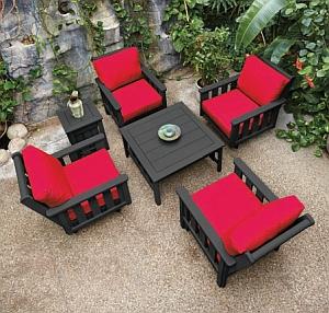 Lounge-Sessel DSF141 (Abb. zeigt vier Sessel / Auflagen und Tisch nicht im Lieferunmfang)
