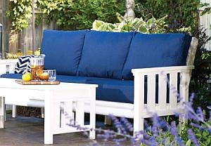 DSF143 Lounge-3er-Sofa (Sitzauflagen und Tisch nicht im Lieferumfang)