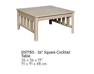 DST150 eckiger Cocktail-Tisch