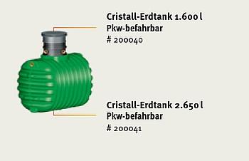 Garantia Christall Erdtank - befahrbar