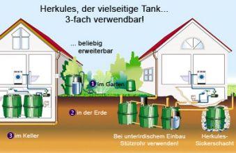 Herkules-Tank 1.600 Liter dreifach einsetzbar