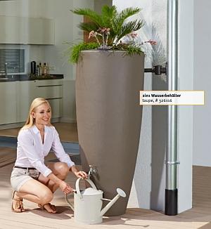 Garantia 2in1 Wasserbehaelter mit Pflanzschale