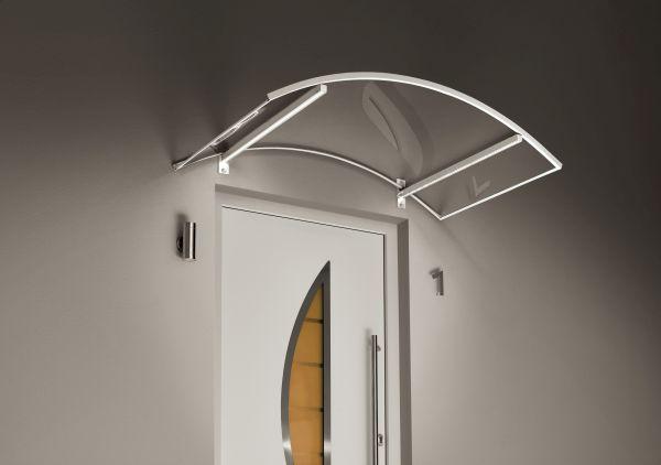 Bogenvordach LED weiss