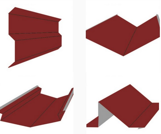 Polmetal Kantteile für das Dach