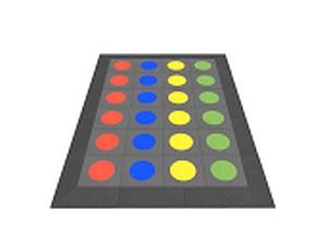 Gummi-Platten Twister Spiel