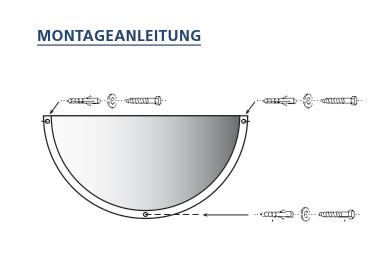 Montageanleitung fuer Sicherheitsspiegel 1960, 1980, 1995