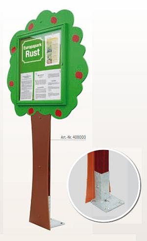 Schaukasten Info-Baum in Wand- oder Pfostenbefestigung erhältlich
