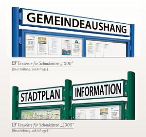 Titelleiste f�r Schaukaesten 1000 + 2000 - Beschriftung NICHT inkl.