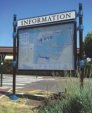 Abb. zeigt City-Informationssystem mit Titelleiste und Kopfmodell Kugel