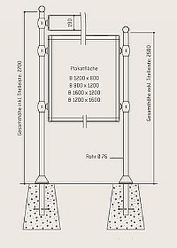 City-Informationssystem mit Titelleiste - Schemata