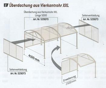 Kombinierbeispiele Überdachung XXL