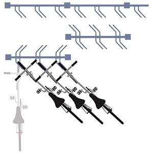 Fahrradständer CONVI® (Schema Aufstellmöglichkeiten)