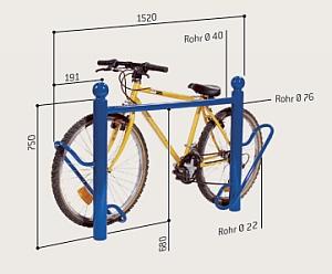 Fahrradständer DUO - Maßangaben