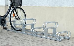 Fahrradständer - 6 höhenversetzte Plätze, feuerverzinkt (Galva)