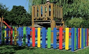 Spielplatz-Umzäunung (Abb. zeigt mehrfarbige Ausführung)