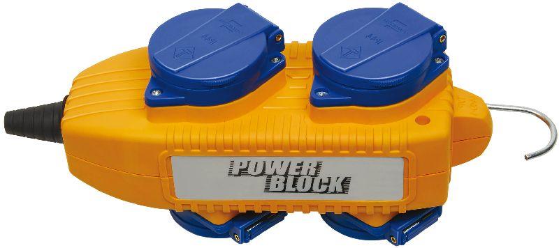 Steckdosen-Powerblock 230V/16A IP44 4-fach