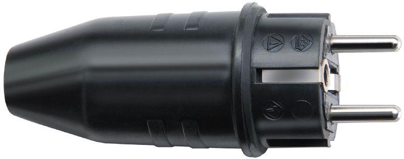 Schutzkontakt-Gummistecker 230V/16A IP44