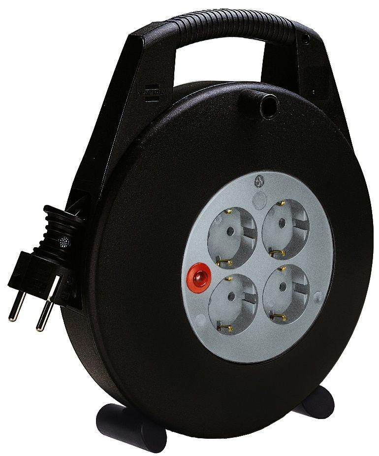 Vario Line Kabelbox 4-fach schwarz/lichtgrau 10m H05VV-F 3G1,5