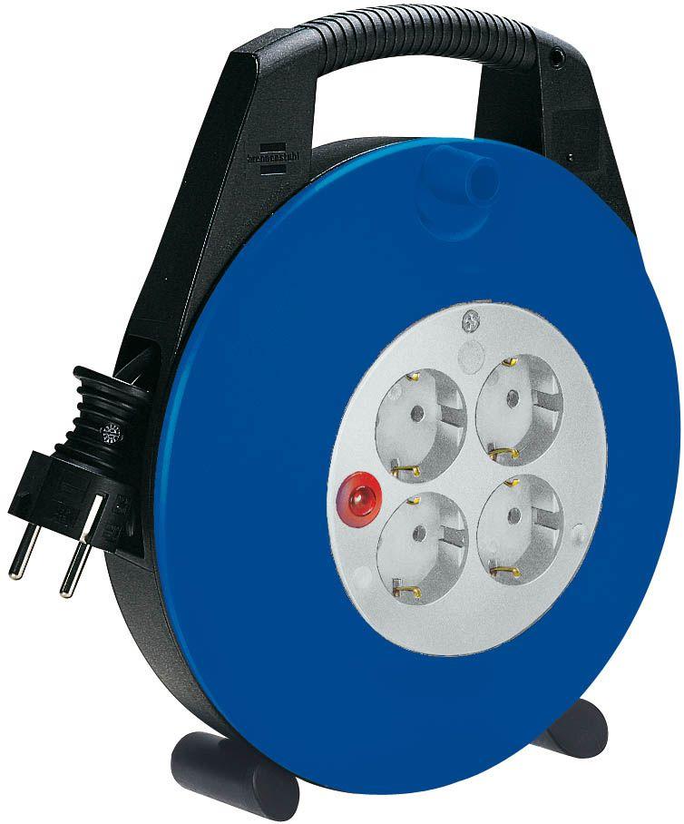 Vario Line Kabelbox 4-fach schwarz/blau/lichtgrau 10m H05VV-F 3G1,5