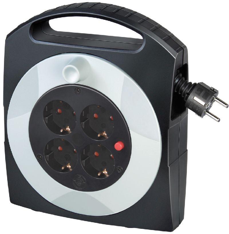 Primera-Line Kabelbox 4-fach schwarz/lichtgrau 5m H05VV-F 3G1,5