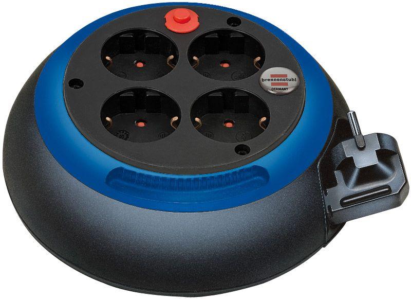 Comfort-Line Kabelbox CL-S 4-fach schwarz/blau 3m H05VV-F 3G1,5