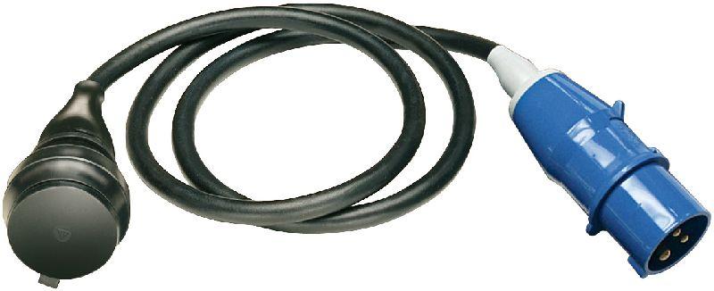 Adapterleitung IP44 1,5m schwarz H07RN-F 3G1,5 CEE-Stecker 230V/16A