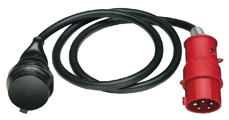 Adapterleitung IP44 1,5m schwarz H07RN-F 3G1,5 CEE-Stecker 400V/16A