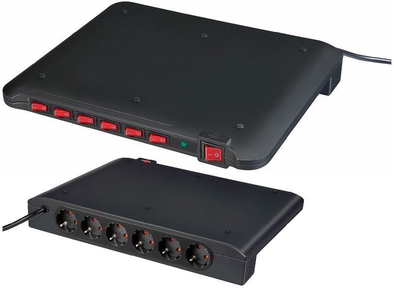 Power Manager PMA 19.500A �berspannungsschutz 6-fach 2m H05VV-F 3G1,5