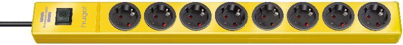 hugo! Steckdosenleiste 8-fach gelb 2m H05VV-F 3G1,5