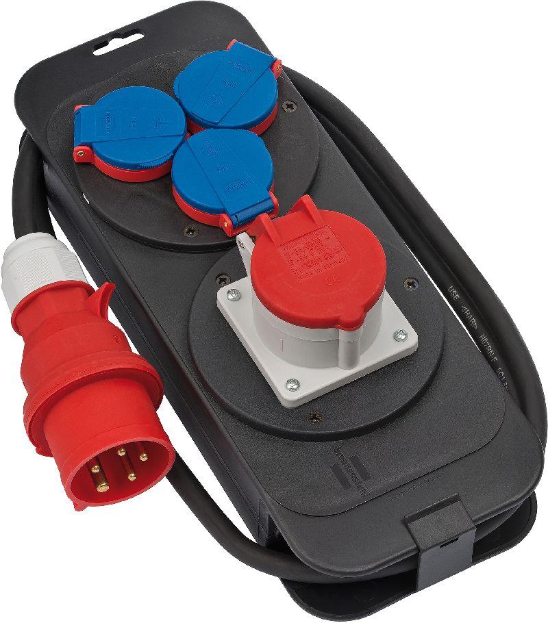 Stromstation CEE1 IP44 Stecker 400V/16A Steckdosen 1x CEE 400V/16A+3x 230V/16A