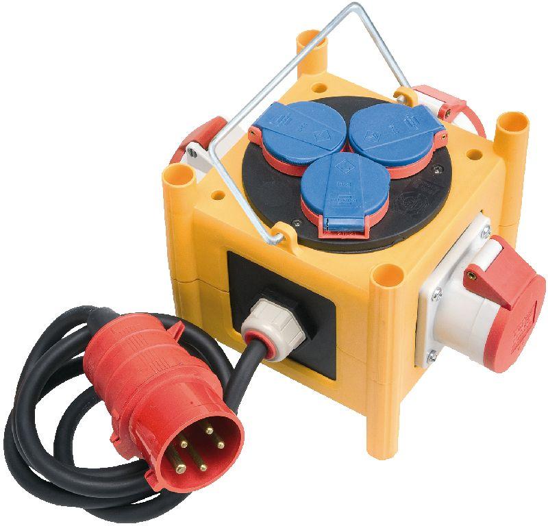 Kompakter Stromverteiler BSV 3 -LS/16 IP44 mit Anschlussleitung