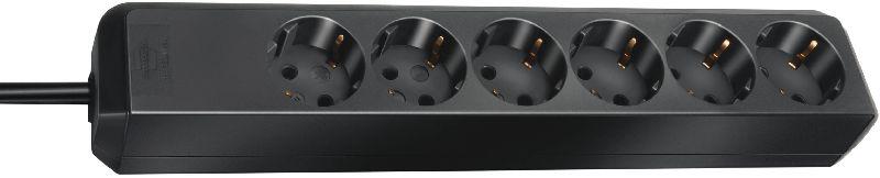 Eco-Line Steckdosenleiste 6-fach schwarz 1,5m H05VV-F 3G1,5