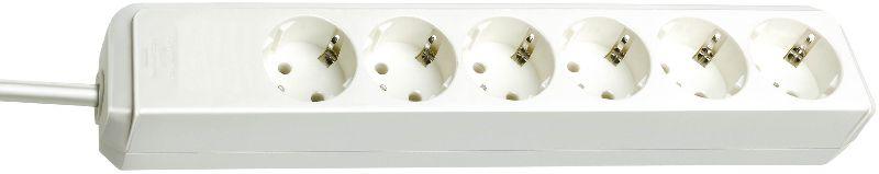 Eco-Line Steckdosenleiste 6-fach weiß 1,5m H05VV-F 3G1,5