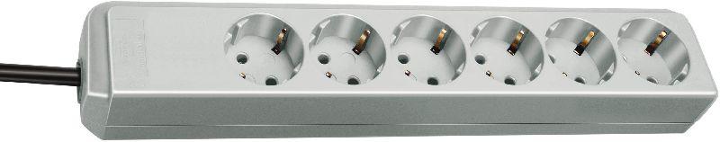 Eco-Line Steckdosenleiste 6-fach lichtgrau 1,5m H05VV-F 3G1,5