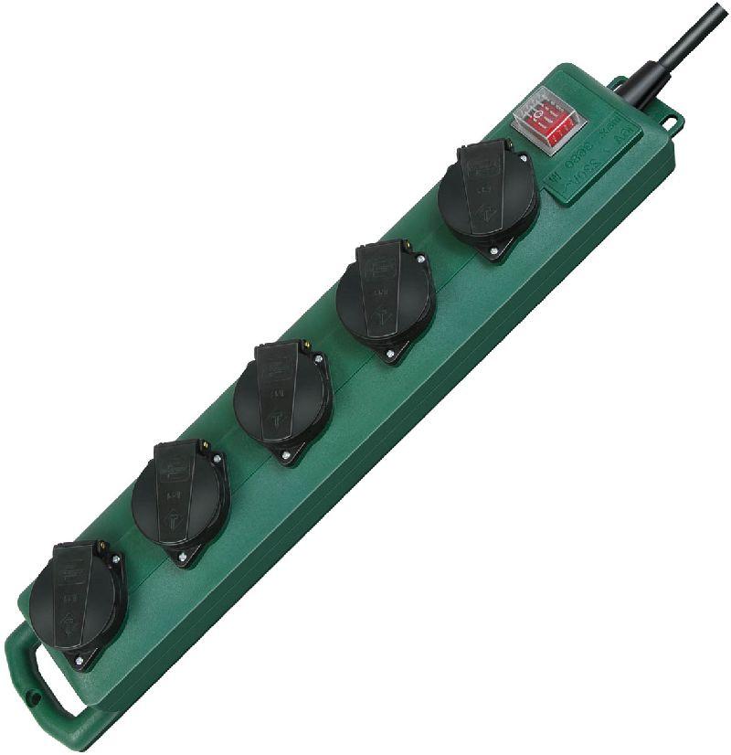 Super-Solid SL 544 D IP44 Garten-Steckdosenverteiler 5-fach 5m H07RN-F 3G1,5  1/Stck  ,Länge:52,000