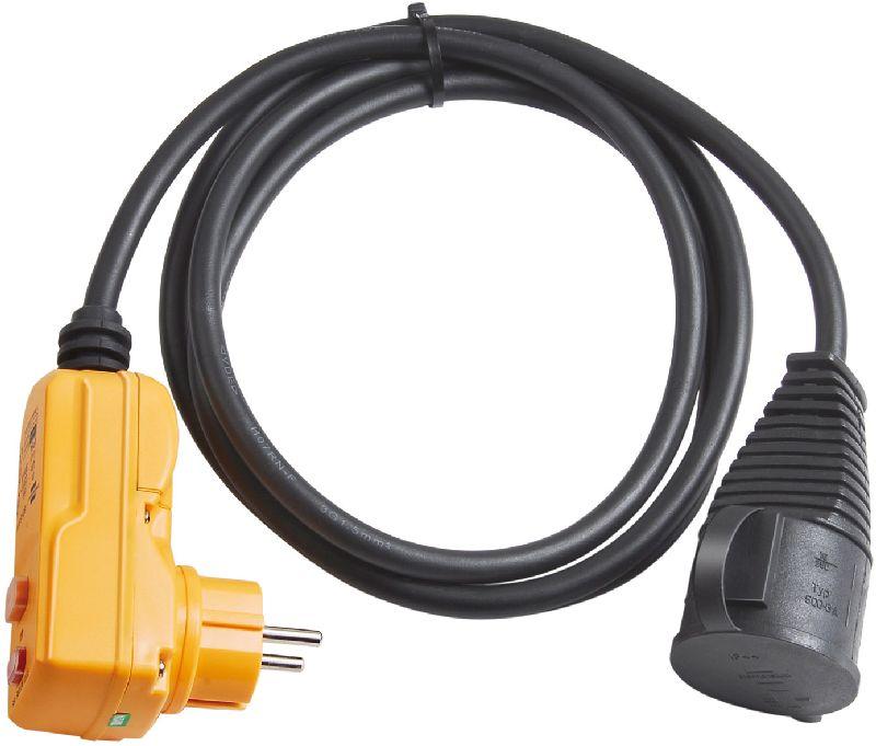Schutzadapterleitung FI IP44 2m schwarz H07RN-F 3G1,5