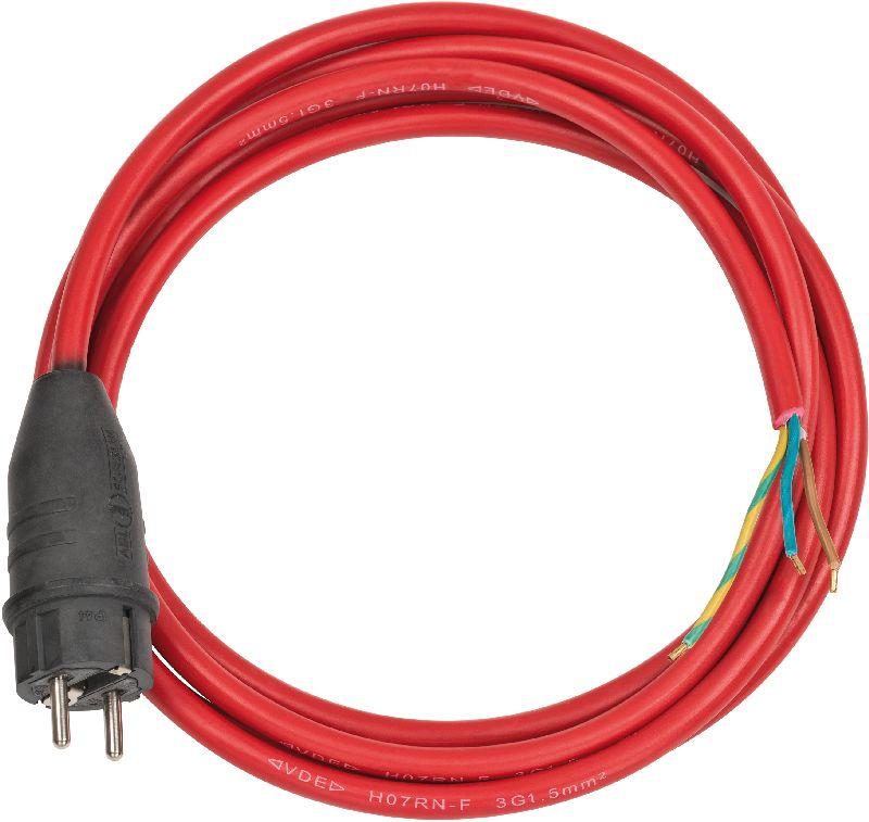 Anschlusskabel 3m rot H07RN-F 3G1,5